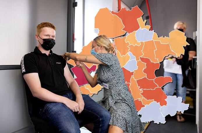 Een gemeente kleurt vandaag donkerrood op de coronakaart van Oost-Nederland en dat is Zeewolde.