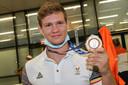 Matthias Casse met de bronzen medaille