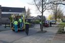 De ambulance is ter plaatse om het slachtoffer hulp te verlenen