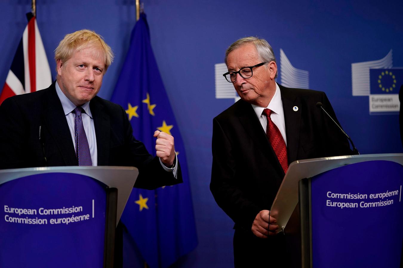 Boris Johnson et Jean-Claude Juncker, président sortant de la Commission européenne.