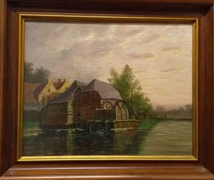 De watermolen in Gennep van Anton Kerssemakers, leerling Vincent van Gogh, 1899