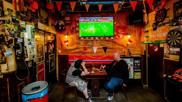 De halve finale tijdens het WK tussen Nederland en Argentinië van 9 juli 2014 was de meest bekeken tv-uitzending ooit. Beeld anp