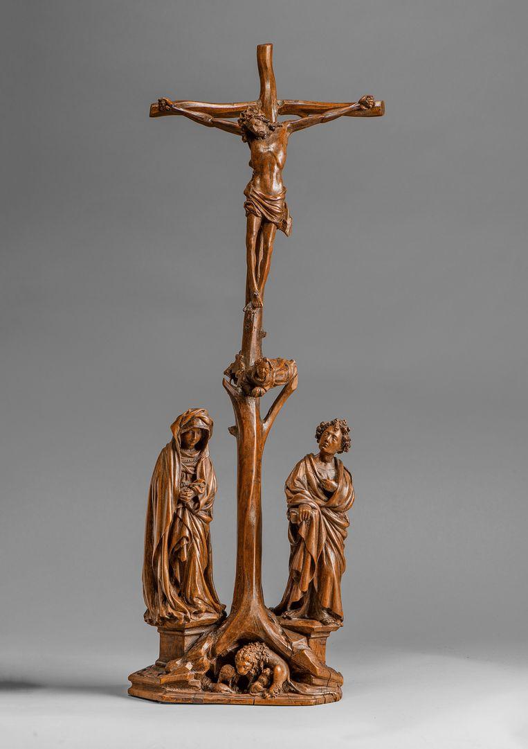 Het Christusbeeldje is het eerste werk van Claus Sluter in een Nederlandse collectie. Beeld Rijksmuseum
