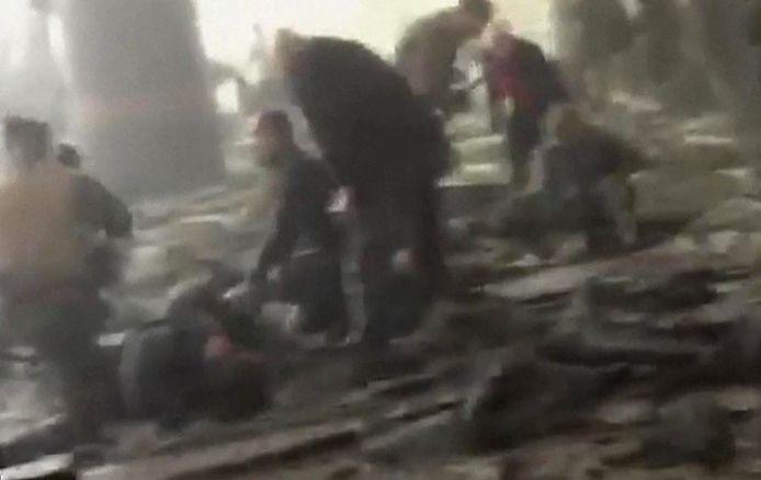 Beelden van het vliegveld tijdens de aanslag
