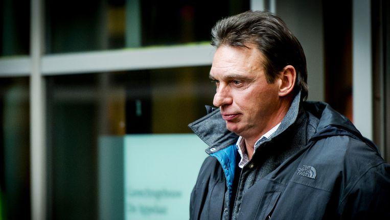 Willem Holleeder verlaat begin december de rechtbank van Haarlem. Beeld anp