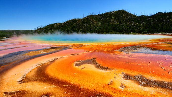 Een hotspring in Yellowstone.