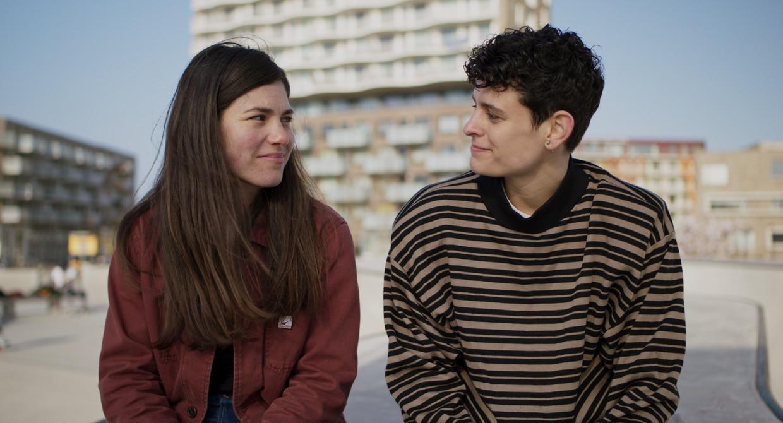 Hanna van Vliet en Thorn de Vries in Anne+.  Beeld Dutch Filmworks