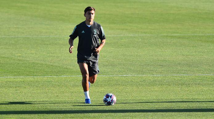 Paulo Dybala op de training van vandaag.