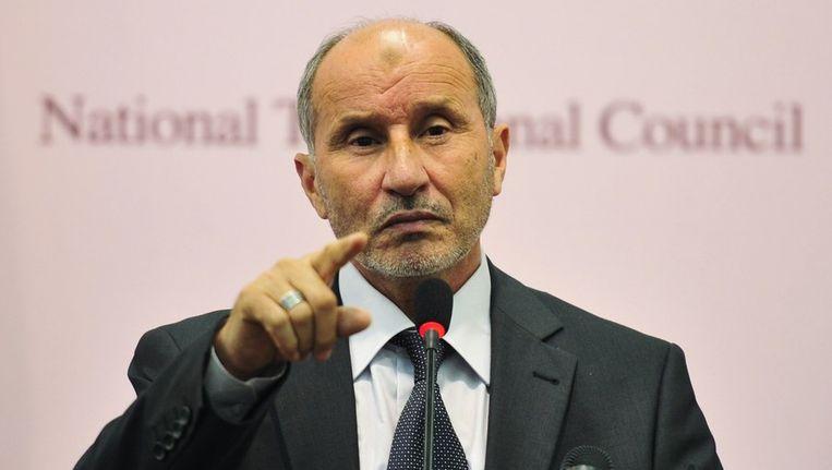 Mustafa Abdul Jalil was tot voor kort minister van Justitie onder kolonel Mouammar Kadhafi. Beeld REUTERS