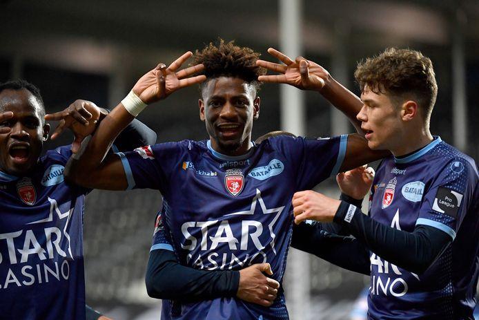 Nuno Da Costa, buteur face à Charleroi dimanche. Les joueurs de l'Excel n'ont pas encore reçu leur salaire de mars