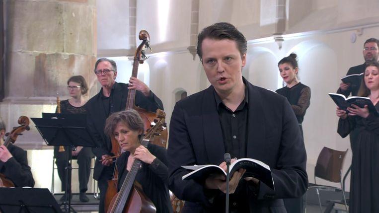 Bas-bariton Arttu Kataja zingt bij de Nederlandse Bachvereniging. Beeld NTR