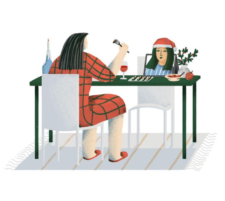 Charlotte De Backer, communicatiewetenschapper: 'Denk ook aan de buur die alleen woont. Die kan wel lasagne kopen, maar dat is toch als seks zonder liefde, nietwaar?' Beeld Elise Vandeplancke