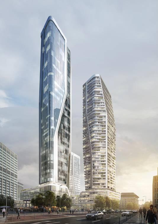 In de torens komen onder meer appartementen en kantoren.