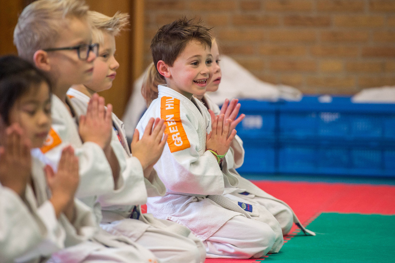 Een judoclinic bij 't Kloskerhufke.