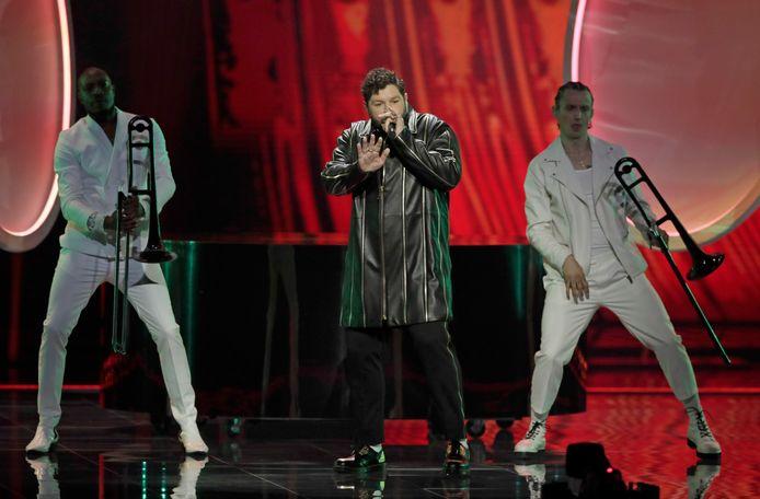 James Newman op het Songfestival.