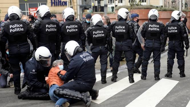 Vijfhonderdtal manifestanten opgepakt bij coronabetogingen in Brussel