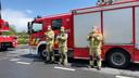 De brandweermannen applaudisseerden voor het verplegend personeel.