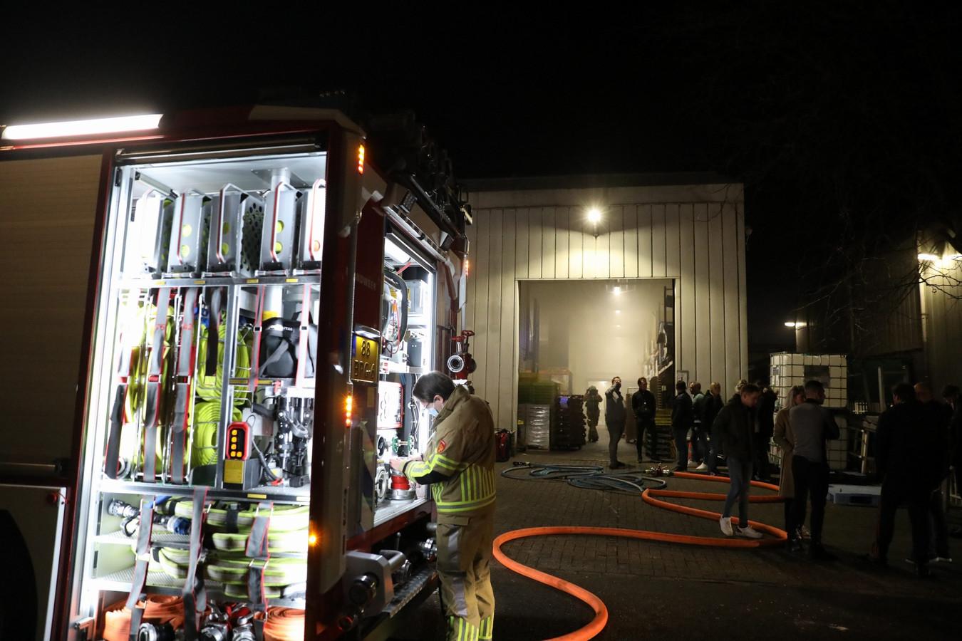 De brandweer had de situatie snel onder controle