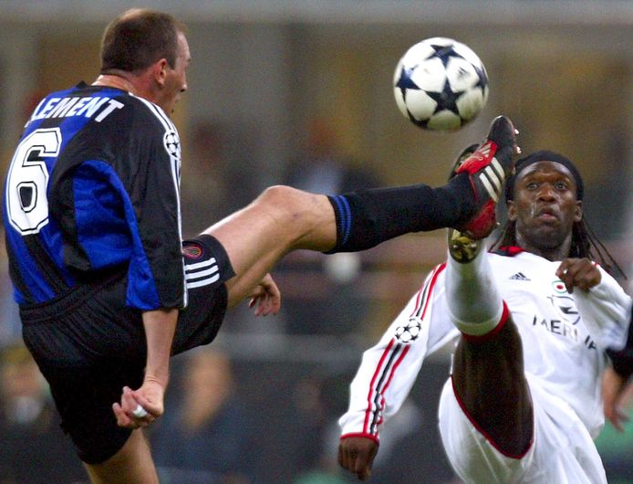 Philippe Clement op San Siro in 2003.