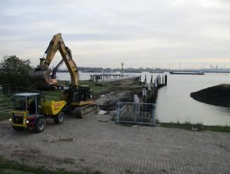 Herstellingswerken gestart aan verzakte kaaimuur van jachthaven Doel