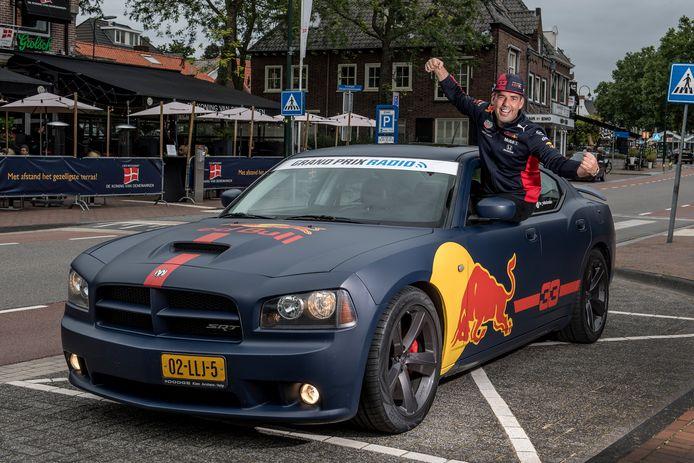 Rhenenaar Erwin Storm woont dit weekend vanaf de grand stand de Grand Prix van Nederland in Zandvoort bij: en ook zijn Red Bull-Dodge maakt zijn opwachting in de badplaats.