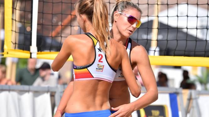 """Stephanie Van Bree pakt met Britt Ruyssaert de eindoverwinning van de beachmanche in Leuven: """"Met zeer veel focus gespeeld"""""""