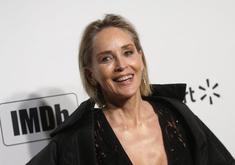 Sharon Stone in februari van dit jaar.  Beeld AFP