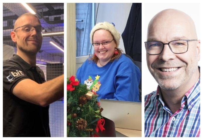 Van links naar rechts: IT'ers Peter van Wijk, Daphne Martens en Wilco Schouten.