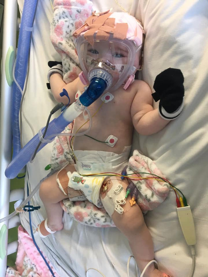 Baby Erin is positief getest op Covid-19