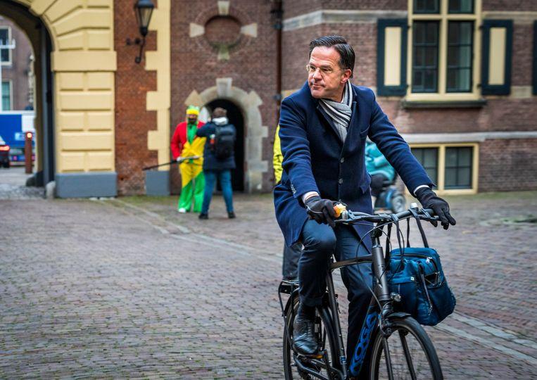 Premier Rutte op het Binnenhof.  Beeld Lex van Lieshout/ANP