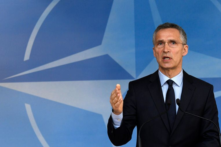 Jens Stoltenberg, secretaris-generaal van de NAVO, is duidelijk: dyberoperaties kunnen artikel 5 van het NAVO-verdrag activeren. Beeld Photo News