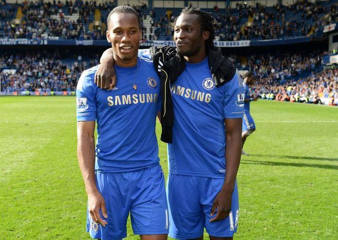 Didier Drogba et Romelu Lukaku en 2011-2012