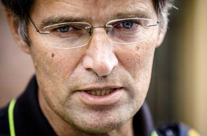 Korpschef Erik Akerboom van de Nationale Politie na afloop van een overleg met de ministerraad.