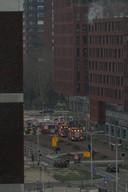 De brand aan de Amerikalaan in Kanaleneiland bracht veel hulpdiensten op de been.