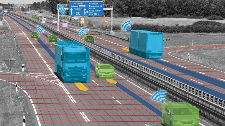Het doel van de test is onder meer om rijhulpsystemen te verbeteren.
