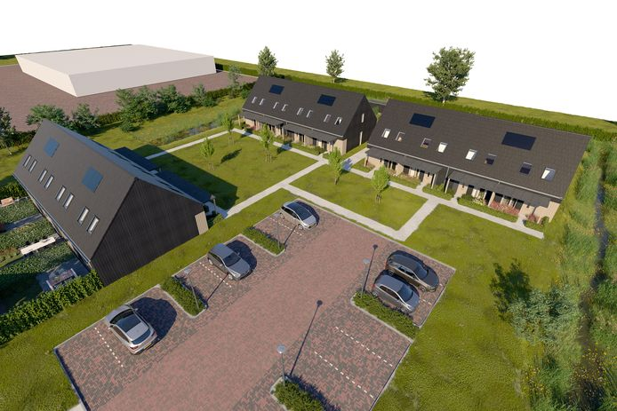 Zo komt het nieuwe hofje in Overasselt eruit te zien.