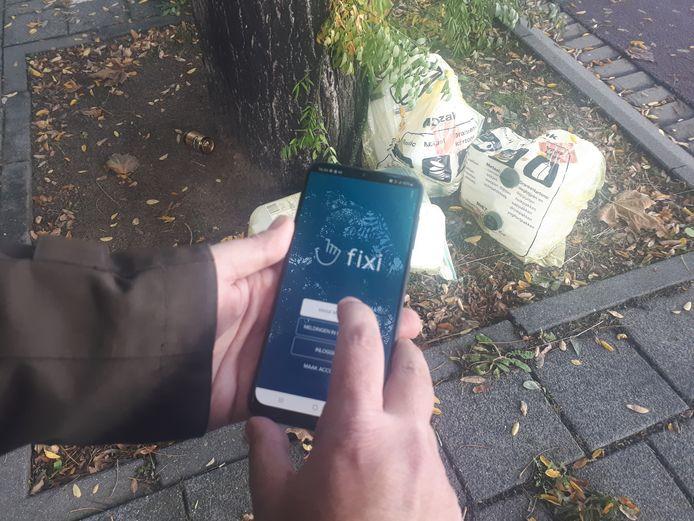 Via de app Fixi kunnen inwoners een melding, vraag of klacht over hun woon- of leefomgeving doorgeven aan de gemeente.