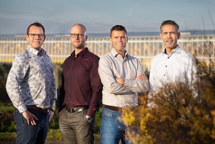 De directie van coöperatie Door, met van links naar rechts Stefan van Vliet, Erik de Jong, Perry Dekkers, Jan Opschoor