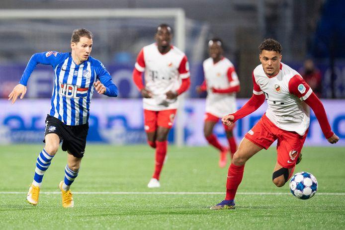 Ruben Kluivert (Jong FC Utrecht) en Joey Sleegers (FC Eindhoven).