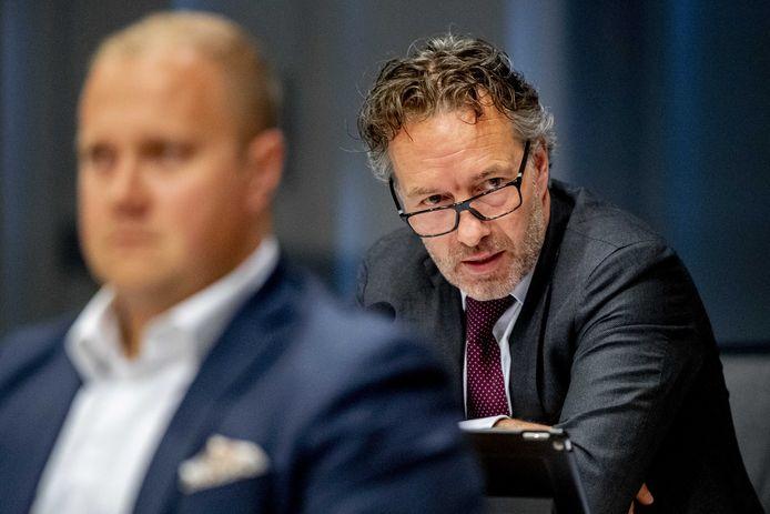 Kamerlid Wybren van Haga (rechts) tijdens een debat.