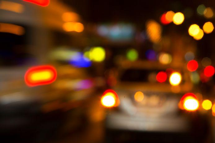 Dronken verkeer automobilist drank drankrijder stock