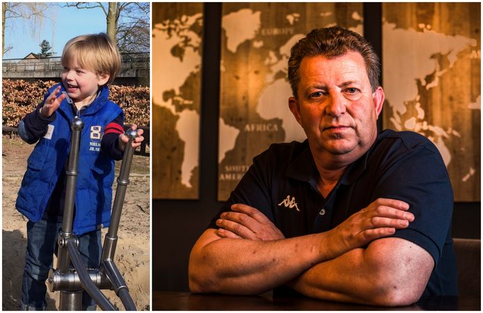 Gijs Sonnema heeft zijn zoon (op linkerfoto 4 jaar oud) al 7 jaar niet meer gezien