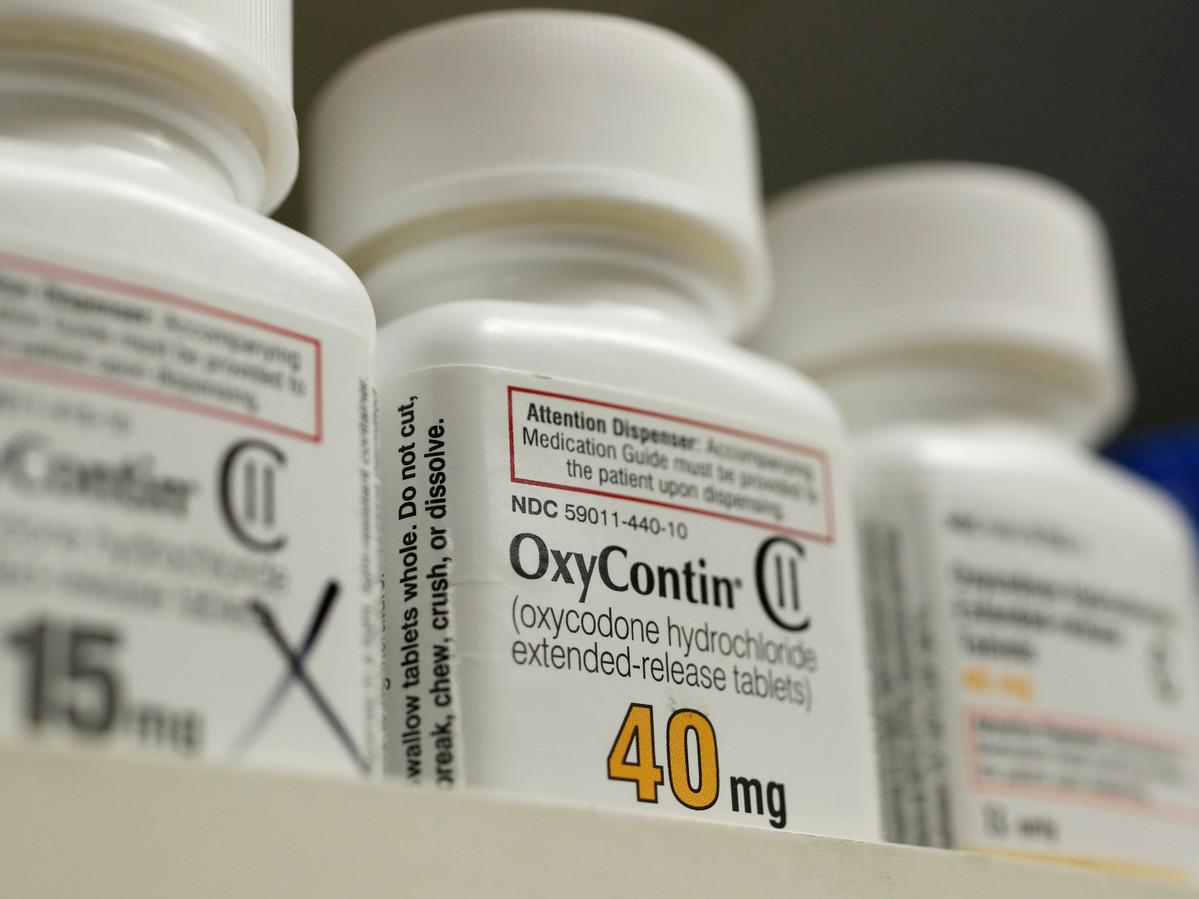 Pijnstiller OxyContin die wordt gemaakt door Purdue Pharma.