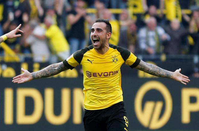 Paco Alcácer is nog niet zeker van een basisplaats bij Borussia Dortmund, maar scoort in de Bundesliga wel om de 43 minuten.