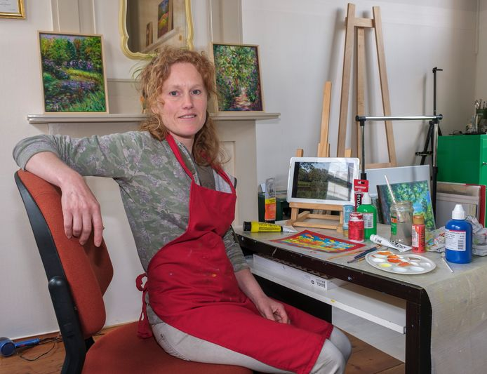 Wieteke Hendrikx in haar atelier.