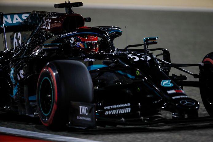 George Russell a réussi le meilleur temps de la première séance d'essais libres à Bahreïn.