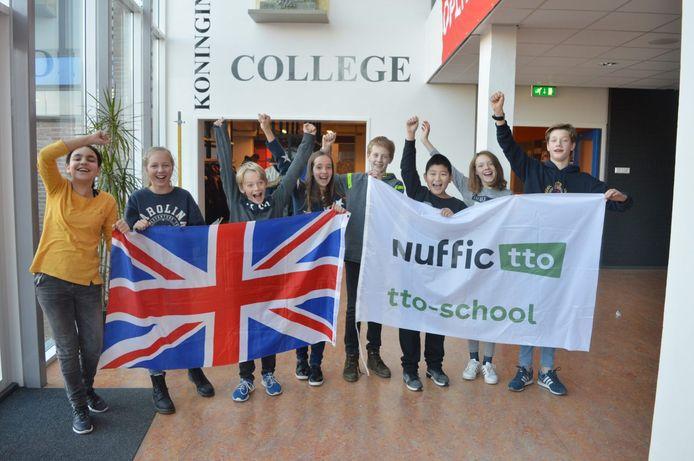Leerlingen van het tweetalig onderwijs op KWC in Culemborg