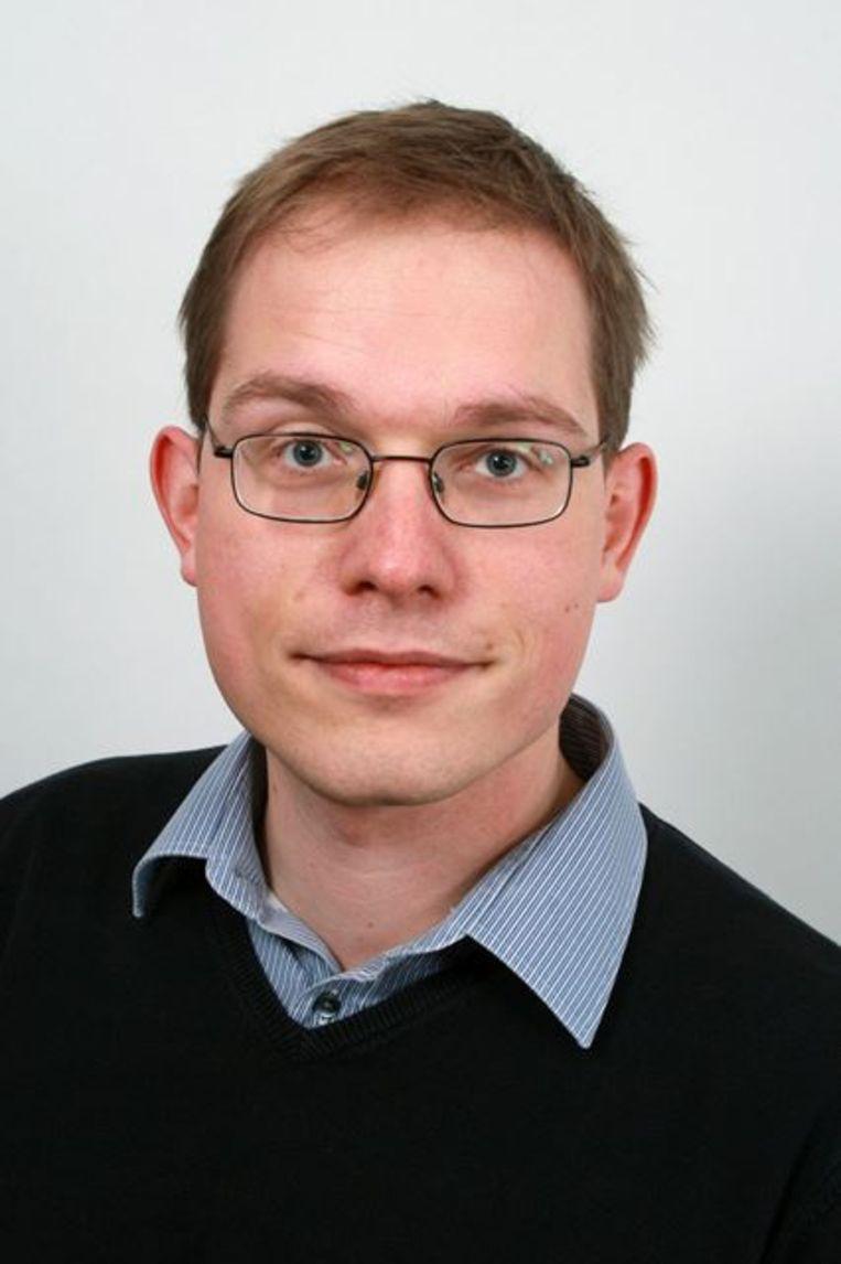 Pepijn van Houwelingen schreef een roman onder het pseudoniem Vossius. Beeld