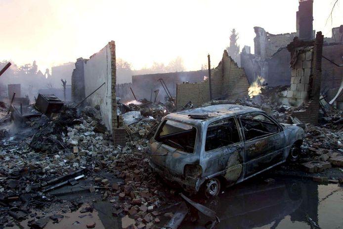 Grote verwoesting na de vuurwerkramp in Enschede