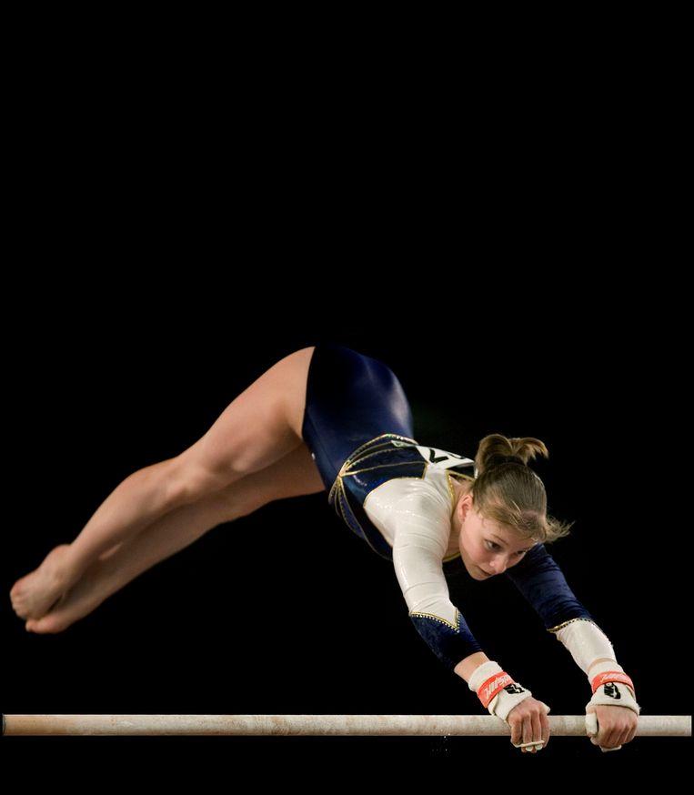 EK Turnen. Stephanie Tijmes op ongelijke brug. Beeld Patrick Post / Sportstation